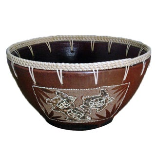 Eggshell Etched Turtle Bowl (Indonesia)