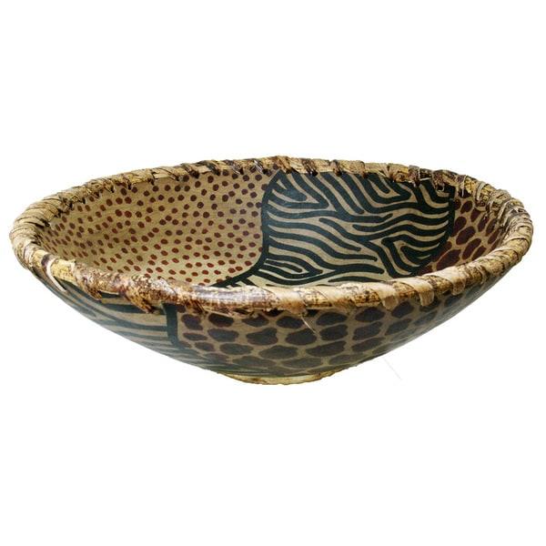 Animal Skin Pattern Bowl (Kenya)