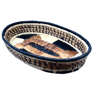 Ceromonial 12-inch Oval Basket (Kenya)
