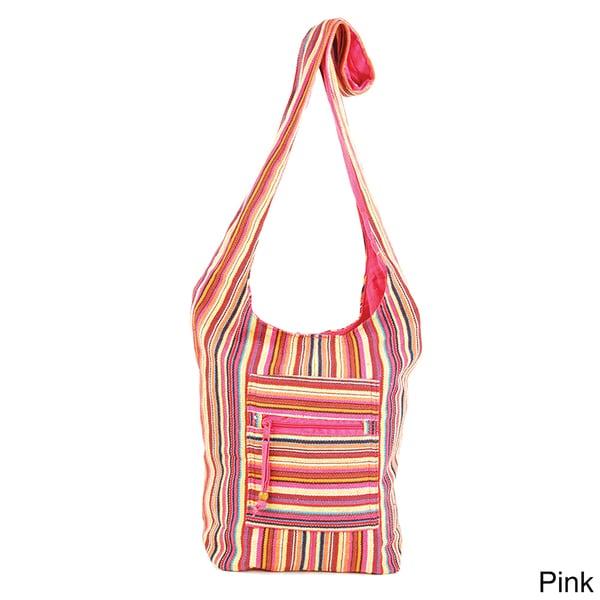 Cotton Stripe Yogi Sling Bag (India)