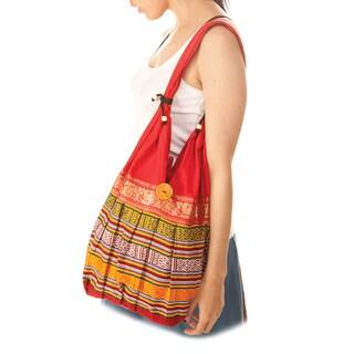 Cotton Red Handbag (India)