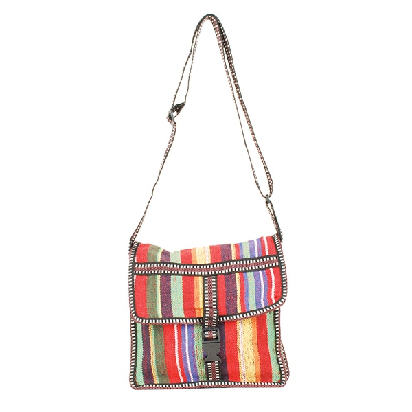 Multi Colored Red Handbag (India)