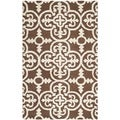 Safavieh Handmade Cambridge Moroccan Rectangular Dark Brown Wool Rug (3' x 5')