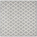 Safavieh Handmade Cambridge Moroccan Silver Small-Diamond-Pattern Wool Rug (6' Square)