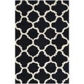 Safavieh Handmade Moroccan Cambridge Black Wool Rug (2' x 3')