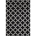 Safavieh Handmade Trellis-Patterned Moroccan Cambridge Black Wool Rug (3' x 5')