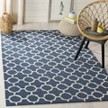 Safavieh Navy Handmade Moroccan Cambridge Wool Accent Rug (2' x 3')