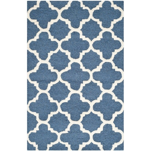 Safavieh Navy Handmade Moroccan Cambridge Wool Accent Rug (2 x 3