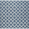 Safavieh Handmade Cambridge Moroccan Navy Wool Area Rug (6' Square)