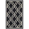 Contemporary Safavieh Handmade Moroccan Cambridge Black Wool Rug (3' x 5')