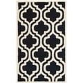 Safavieh Handmade Moroccan Cambridge Black Wool Rug (3' x 5')