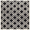 Safavieh Handmade Cambridge Moroccan Black Oriental Wool Rug (6' Square)