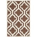 Safavieh Handmade Moroccan Cambridge Dark Brown Wool Rug (2' x 3')