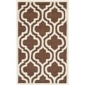 Safavieh Handmade Cambridge Moroccan Dark Brown Wool Indoor Rug (3' x 5')