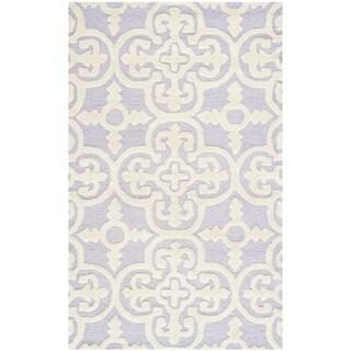 Safavieh Handmade Moroccan Cambridge Lavender Wool Rug (3' x 5')