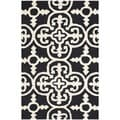 Safavieh Handmade Cambridge Moroccan Black Wool Rug (2' x 3')