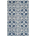 Safavieh Handmade Moroccan Cambridge Navy Wool Rug (3' x 5')