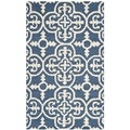 Safavieh Handmade Moroccan Cambridge Navy Wool Rug (3' x 5')