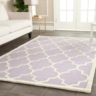 Safavieh Handmade Moroccan Cambridge Lavender Wool Accent Rug (2' x 3')