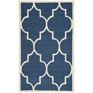 Safavieh Handmade Cambridge Moroccan Navy Traditional Wool Rug