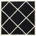 Safavieh Handmade Cambridge Moroccan Black Diamond Pattern Wool Rug (6' Square)