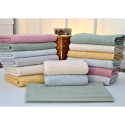 Lucia Minelli 'Santa Clara' 8-piece Jacquard Towel Set with Tub Mats