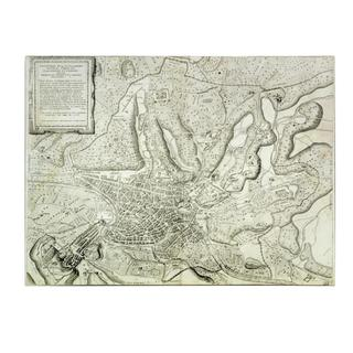 Antonio Lafreri 'Map of the City of Rome, 1557' Canvas Art
