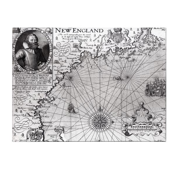 John Smith 'Coast of New England, 1614' Canvas Art