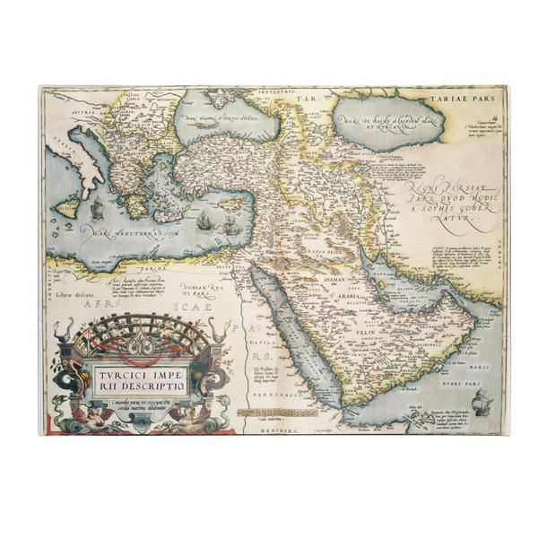 Abraham Ortelius 'Map of the Middle East, 1570' Canvas Art