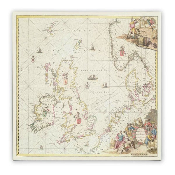 Fredrick de Wit 'Map of the North Sea, 1675' Canvas Art