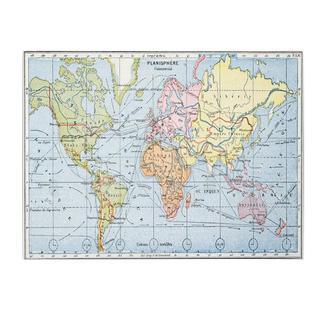'Map of Principal World Trade Routes, 1912' Canvas Art