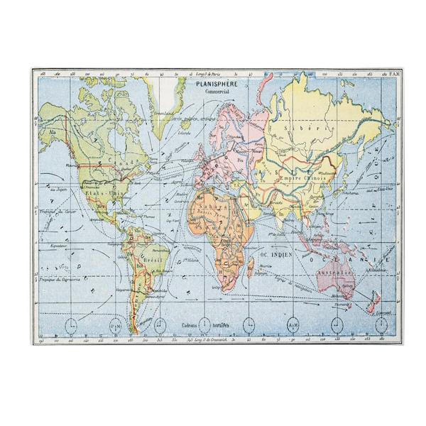 'Map of Principal World Trade Routes, 1912' Canvas Art