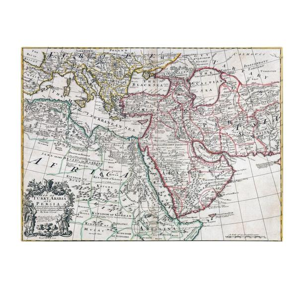 'Map of Turkey, Arabia and Persia' Canvas Art