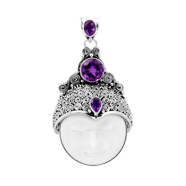 Sterling Silver Bali Crown Prince Pendant (Indonesia)