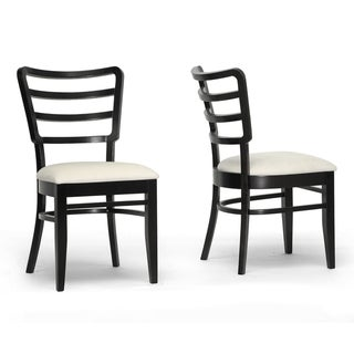 Coventa Dark Brown/ Cream Modern Dining Chairs (Set of 2)