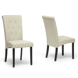 Baxton Studio Alinia Beige Modern Dining Chairs (Set of 2)