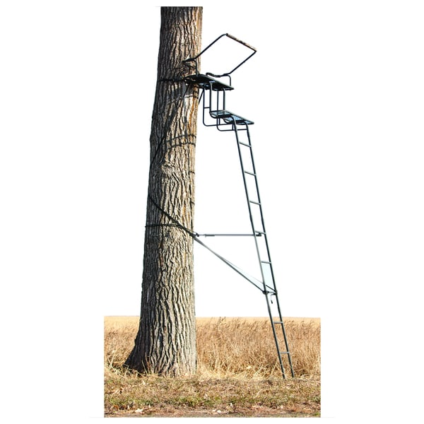 Big Game Treestands CR4750 Raven 2-Person 15 Foot Ladder Stand