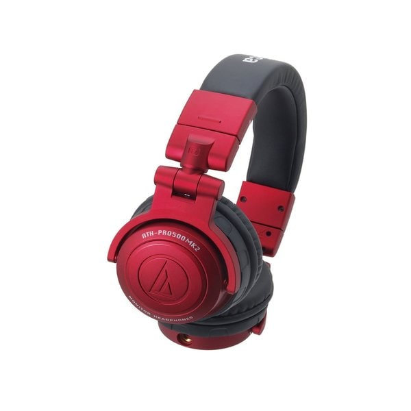 Audio-Technica ATH-PRO500MK2RD Professional DJ Monitor Headphones