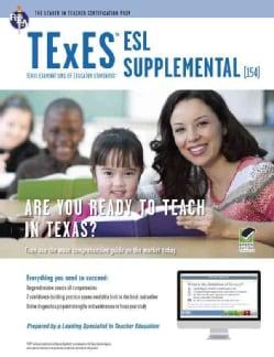 Rea Texes Esl Supplemental: Texas Examinations of Educator Standards