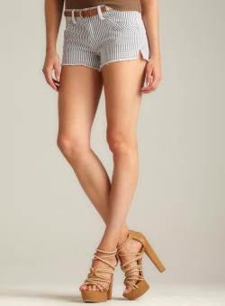 RD Style Railroad Stripe Belted Short