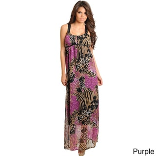 Stanzino Women's Empire Waist Printed Maxi Dress