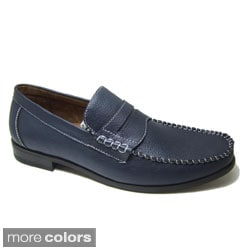 Ferro Aldo Men's Leatherette Penny Loafers