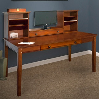 Medium Brown Hutch with Writing Desk