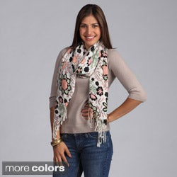 Saro Women's Flower Design Scarf