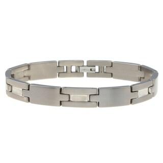 Titanium Men's Polished Link Bracelet