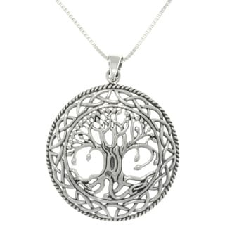 Carolina Glamour Collection Silver Celtic Tree of Life Necklace