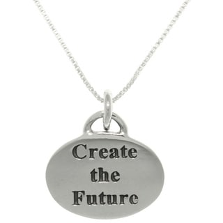 CGC Sterling Silver 'Create The Future' Inspirational Necklace