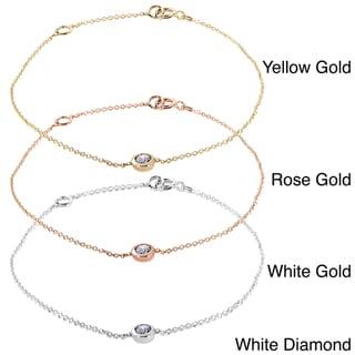 Annello 14k Gold 1/4ct TDW Bezel Diamond Bracelet (H-I, I1-I2)