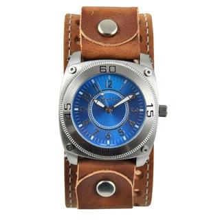 Nemesis Men's Blue Dial Leather Strap Watch