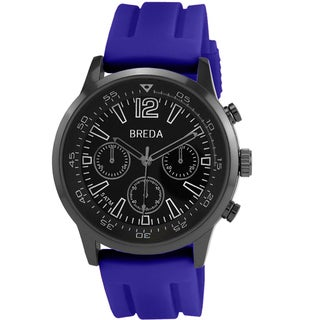 Breda Men's 'Oliver' Blue Silicone Band Watch